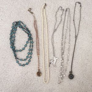 Lot of 6 long necklaces
